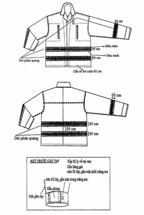 chi tiết kỹ thuật áo PCCC theo TT48