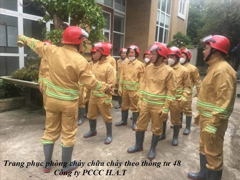 Trang phục phòng cháy chữa cháy theo thông tư 48