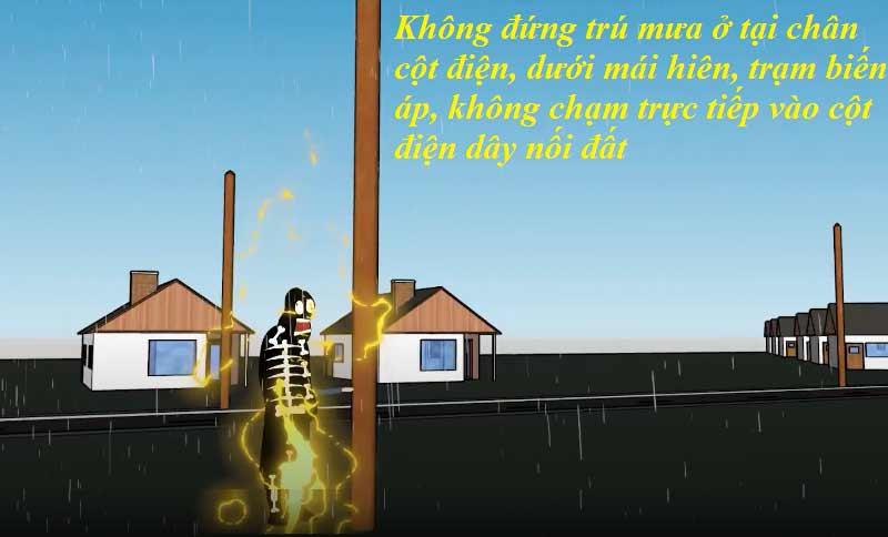 Nguy cơ chập điện gây cháy trong mùa mưa, bão lũ