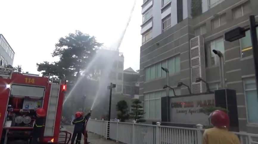 Diễn tập PCCC và cứu nạn cứu hộ tại cộng hoà Plaza 2020
