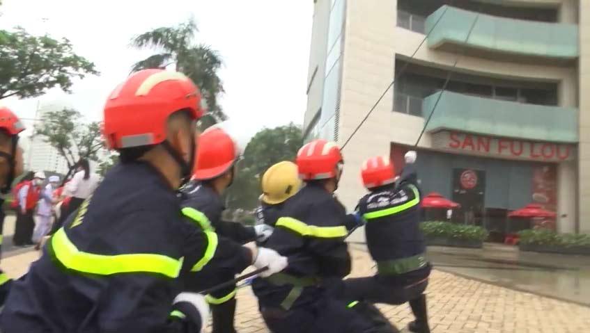 Diễn tập phương án PCCC và cứu nạn cứu hộ
