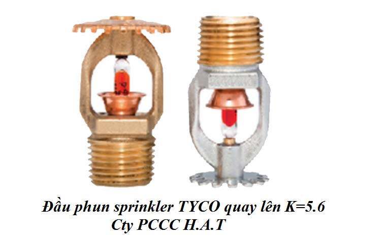 Đầu phun sprinkler TYCO quay lên K=5.6