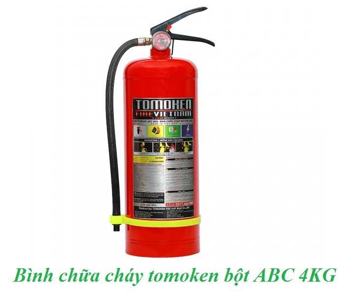 bình chữa cháy bột tomoken ABC 4KG