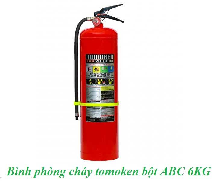 bình phòng cháy tomoken bột ABC 6KG